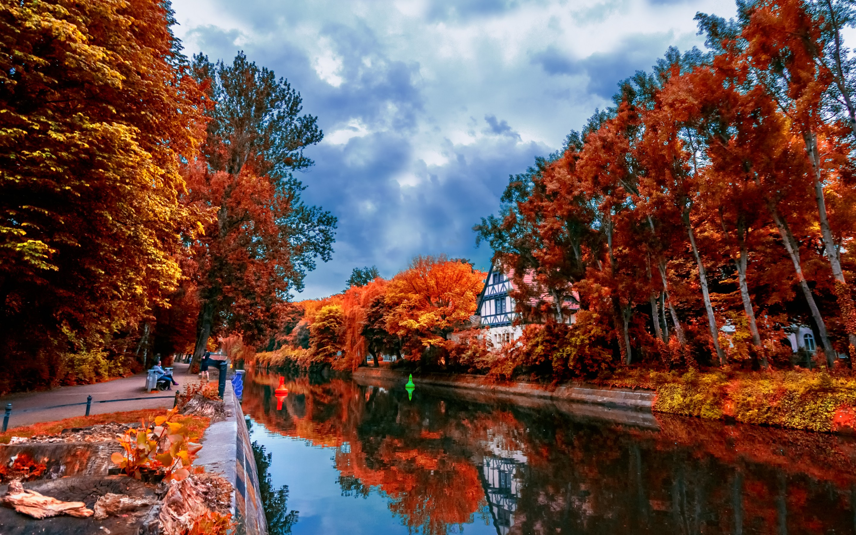 Reflection hd wallpaper background image 2880x1800 for Desktop sfondi autunno