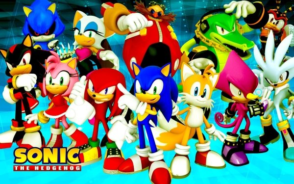 """Video Game Sonic & All-Stars Racing Transformed Sonic Sonic the Hedgehog Miles """"Tails"""" Prower Silver the Hedgehog Metal Sonic Shadow the Hedgehog Vector the Crocodile Doctor Eggman Rouge the Bat Charmy Bee Amy Rose Knuckles the Echidna Espio the Chameleon HD Wallpaper 