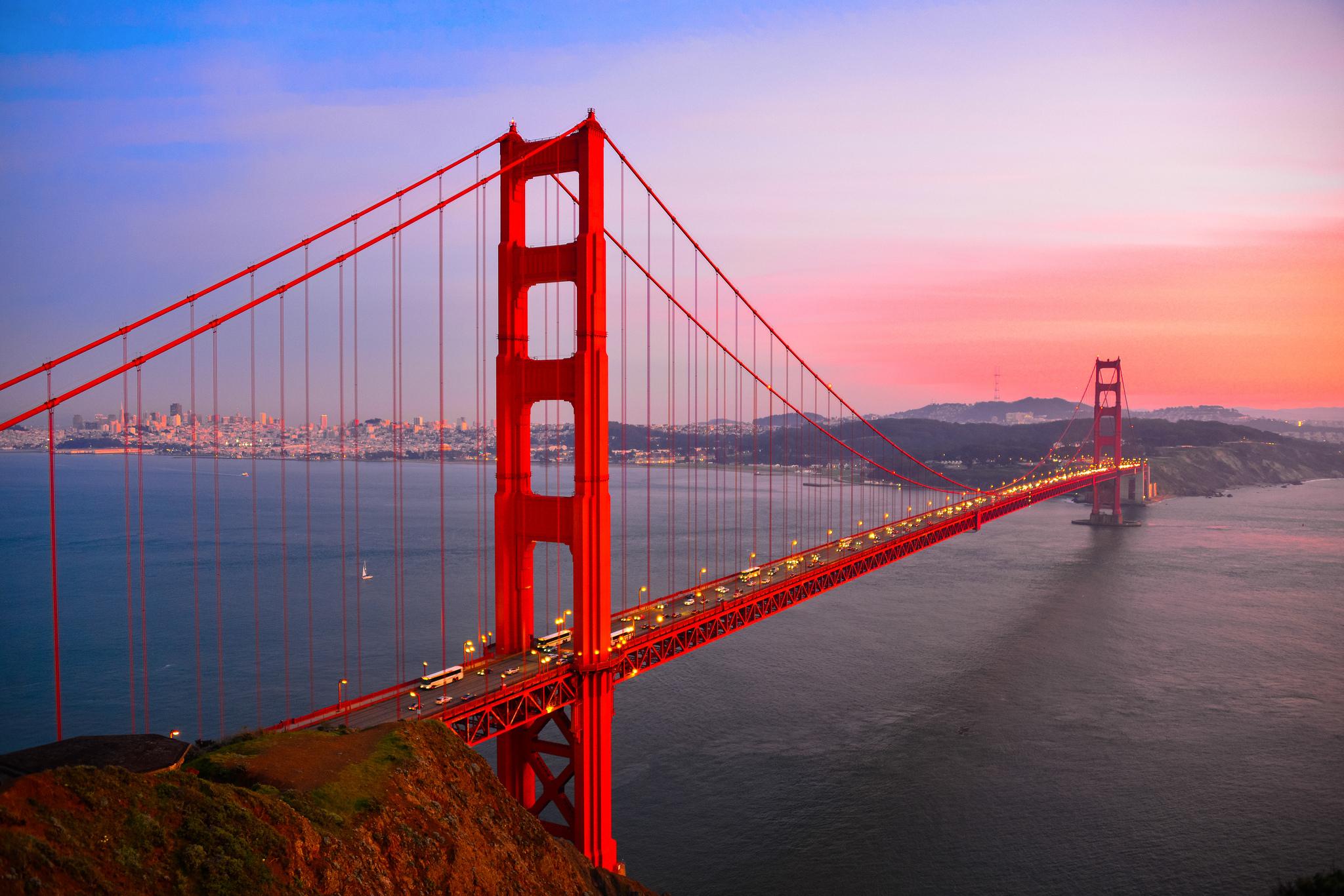 golden gate bridge  usa  wallpapers  pictures  virtual