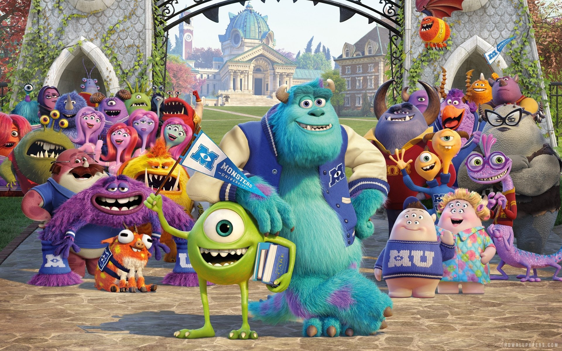 Wallpaper iphone monster university - Hd Wallpaper Background Id 418370 1920x1200 Movie Monsters University