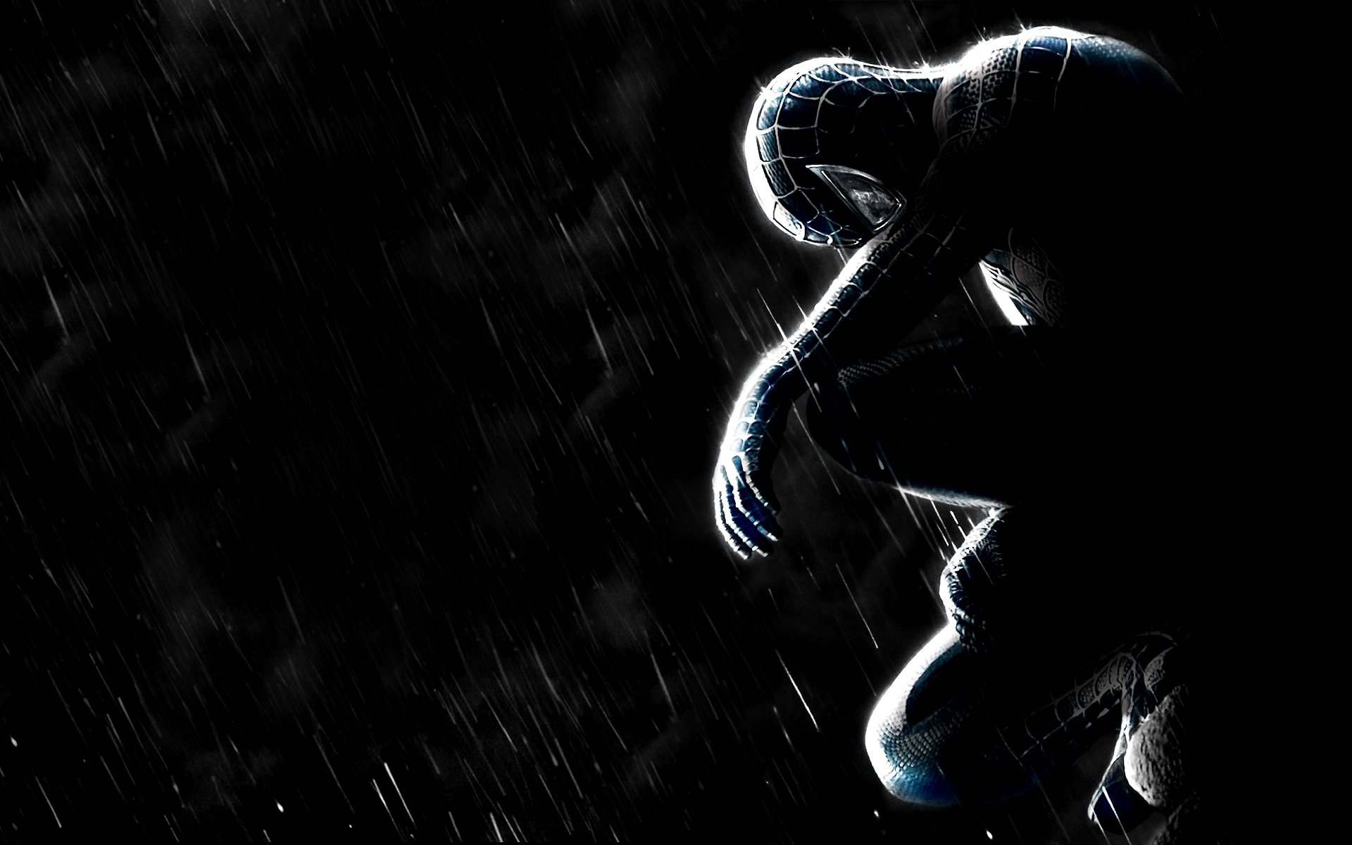 Spider man full hd wallpaper and background image - Black and white spiderman wallpaper ...