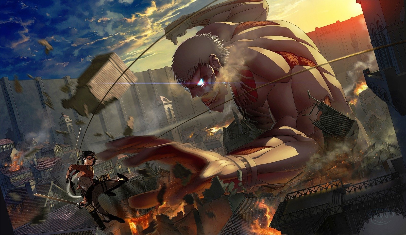 Image result for attack on titan background