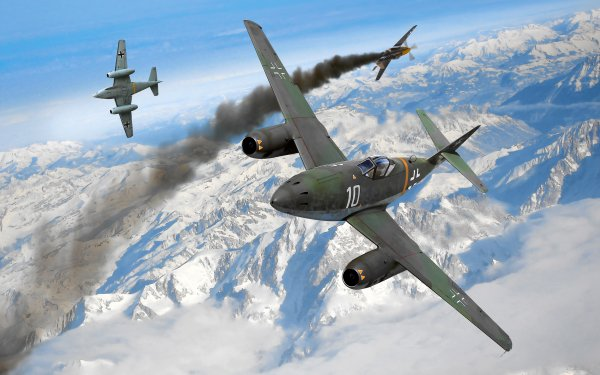 Military Messerschmitt Me 262 Military Aircraft HD Wallpaper | Background Image