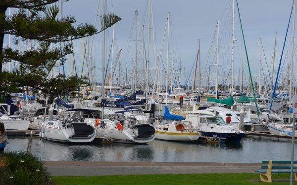 Vehicles Sailboat Boat Sailing Water Ocean Bay Brisbane HD Wallpaper | Background Image