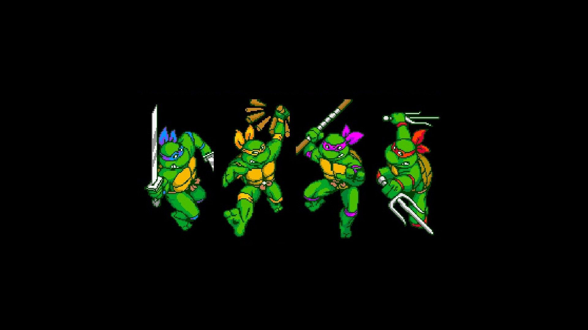 Teenage Mutant Ninja Turtles IV In Time Full HD Wallpaper