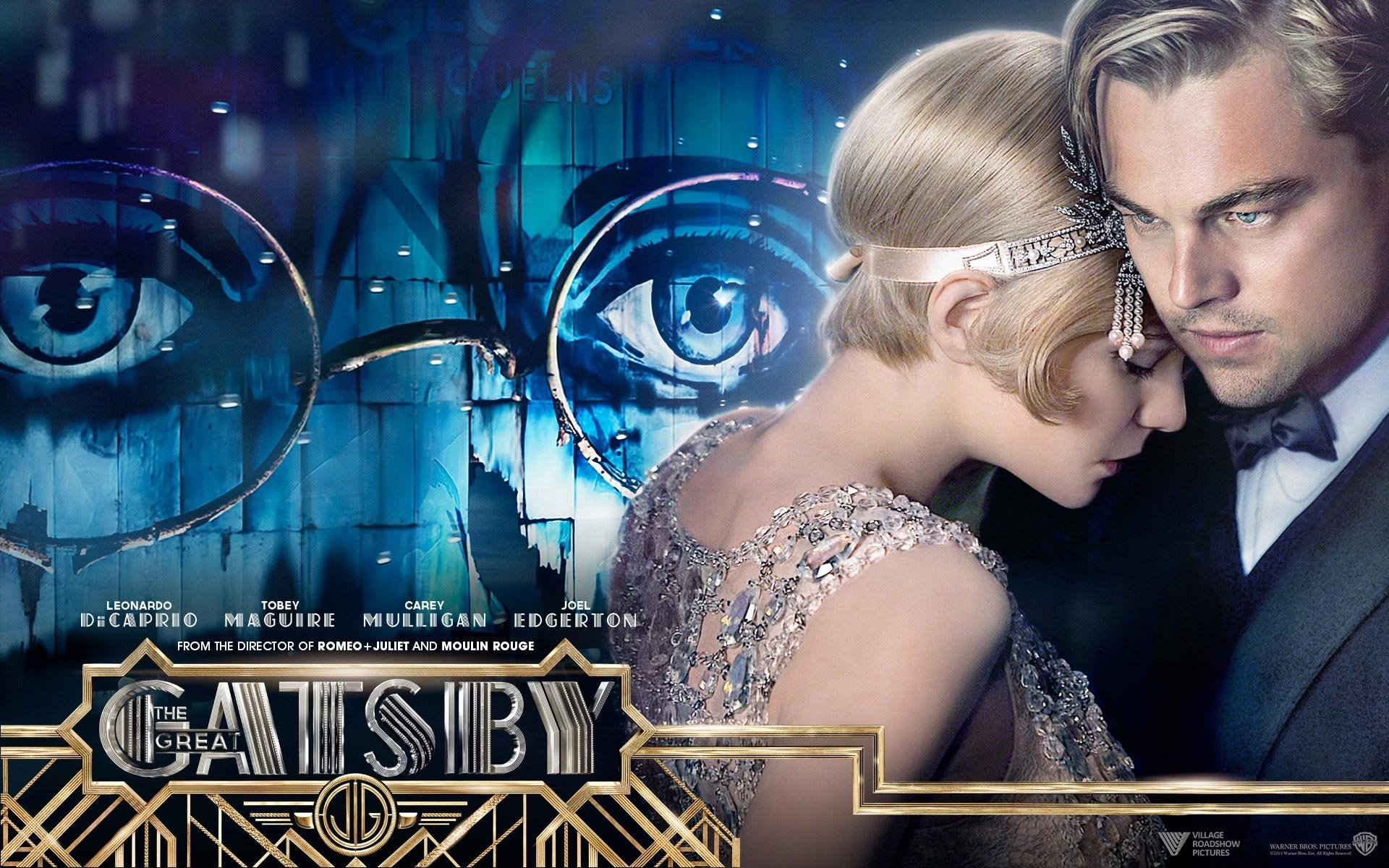 Movie - The Great Gatsby  Leonardo Dicaprio Carey Mulligan Wallpaper