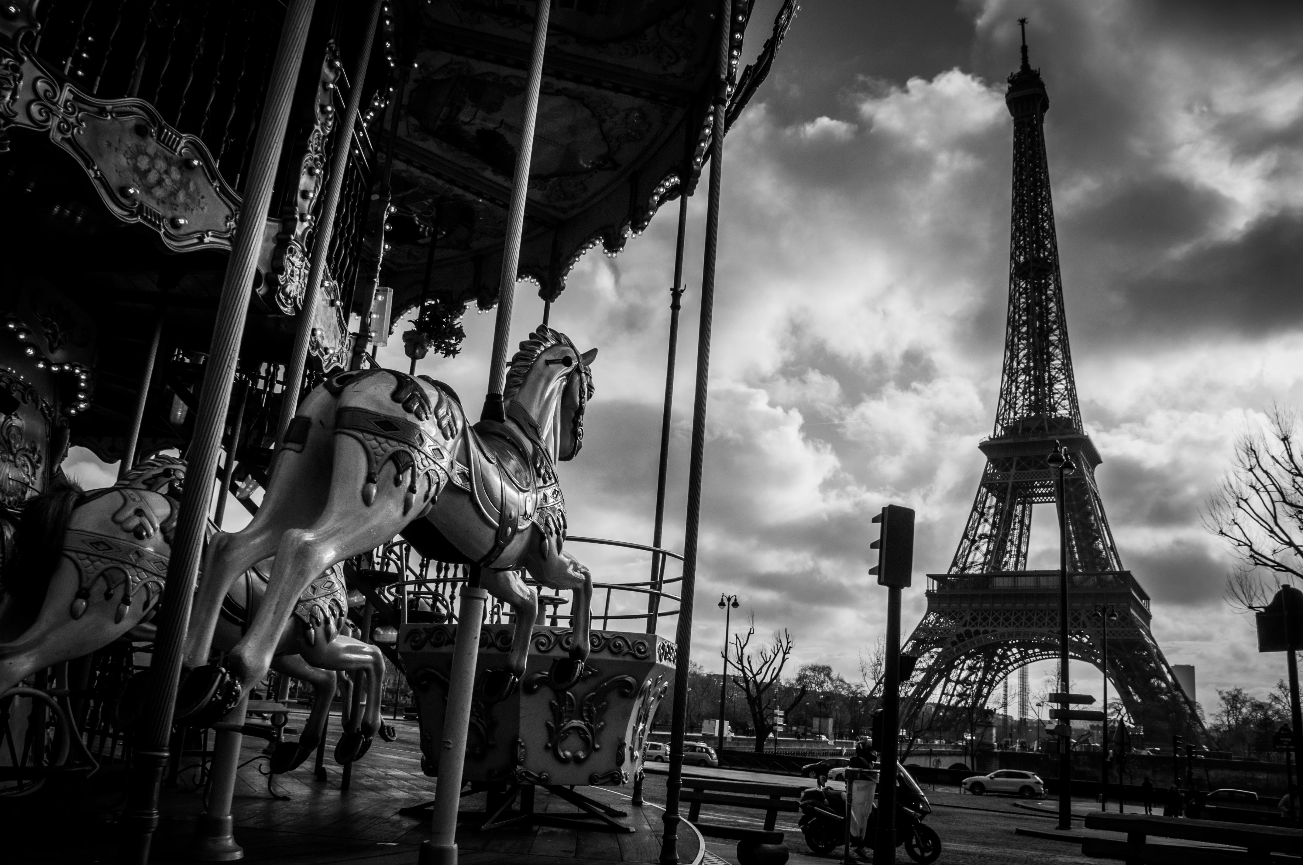 Paris en noir et blanc Fond d'écran