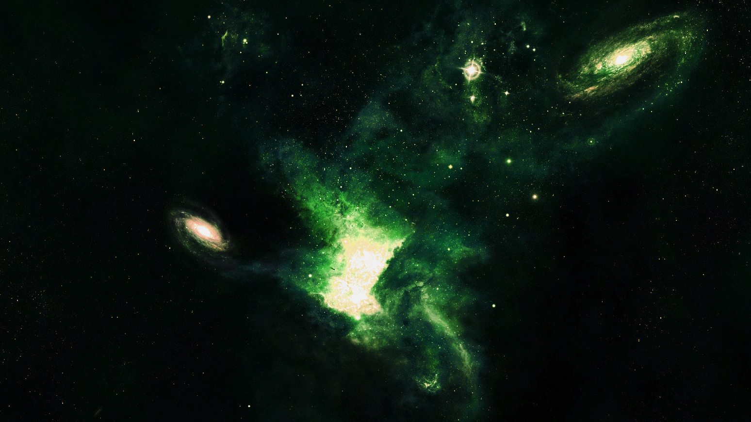 Space wallpaper and background image 1548x870 id 421362 - Space wallpaper green ...