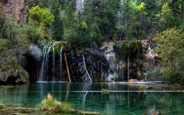 Earth Hanging Lake Colorado Waterfall HD Wallpaper | Background Image