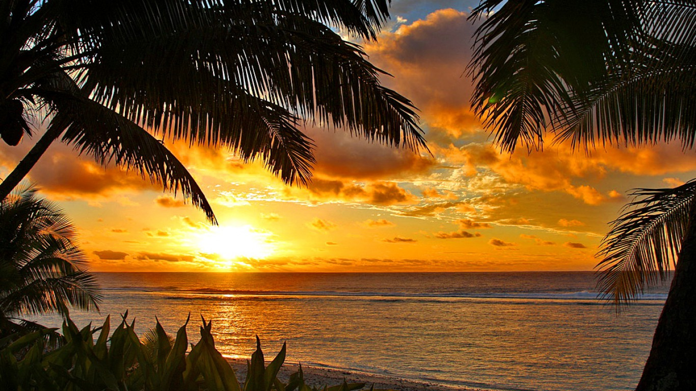 tropical sunset backgrounds - photo #11
