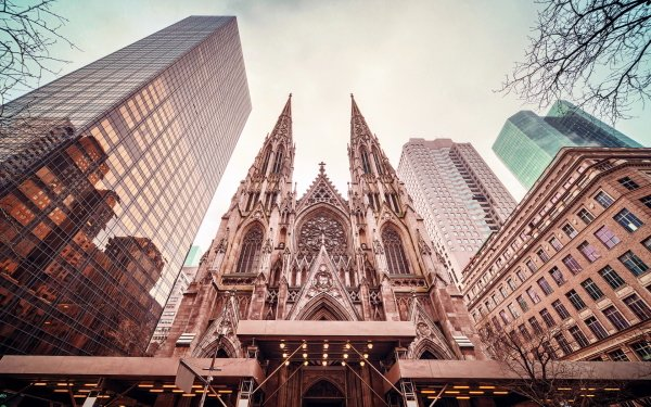 Religious St. Patrick's Cathedral Cathedrals HD Wallpaper | Background Image