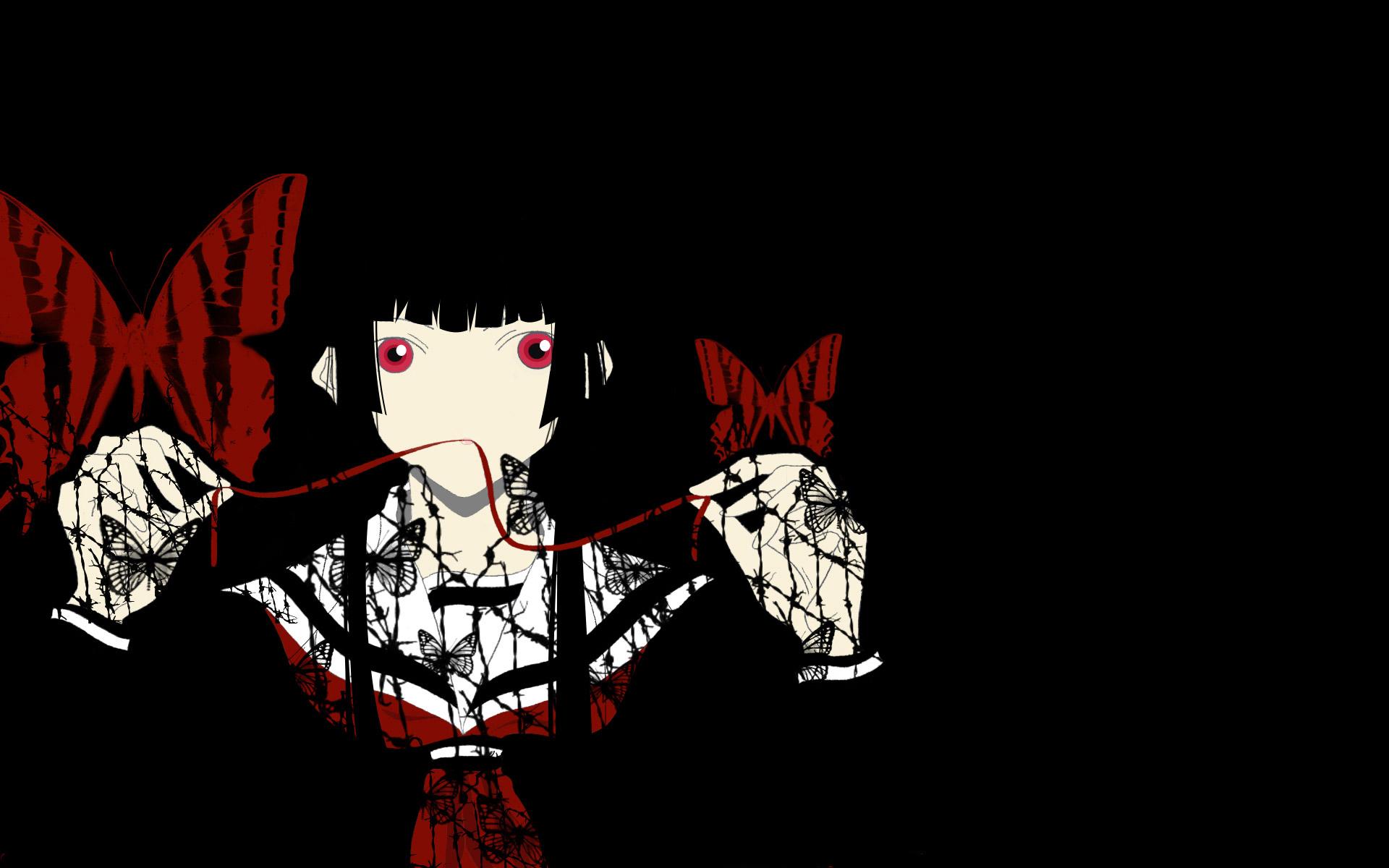 Anime jigoku shoujo full hd wallpaper and background - Anime wallpaper black background ...