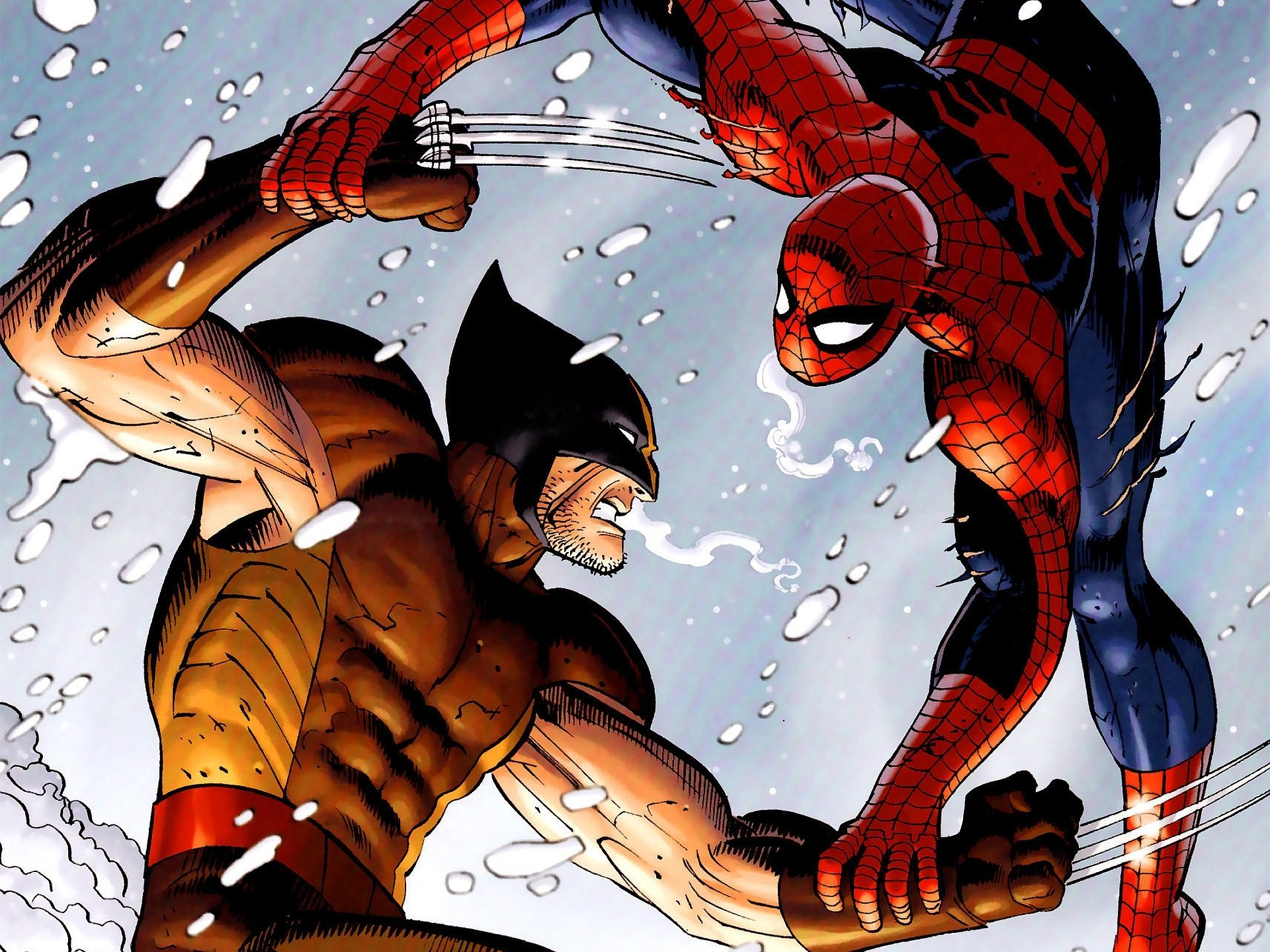 Spider-Man Vs. Wolverine Full HD Wallpaper and Background ... Deadpool Vs Spiderman Wallpaper 1920x1080