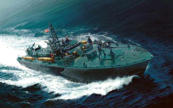 Military PT Boat Warships HD Wallpaper | Background Image
