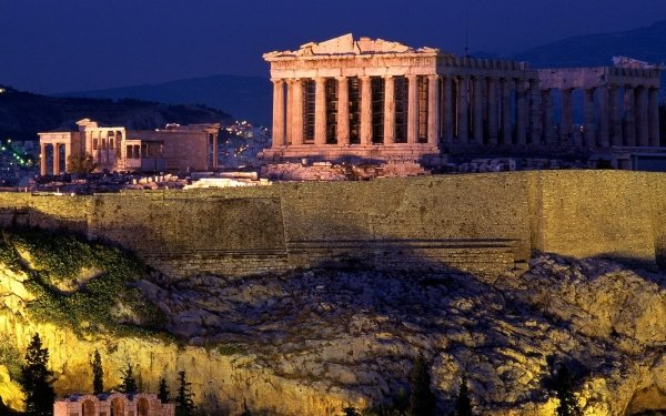 Man Made Acropolis Of Athens Monuments HD Wallpaper   Background Image