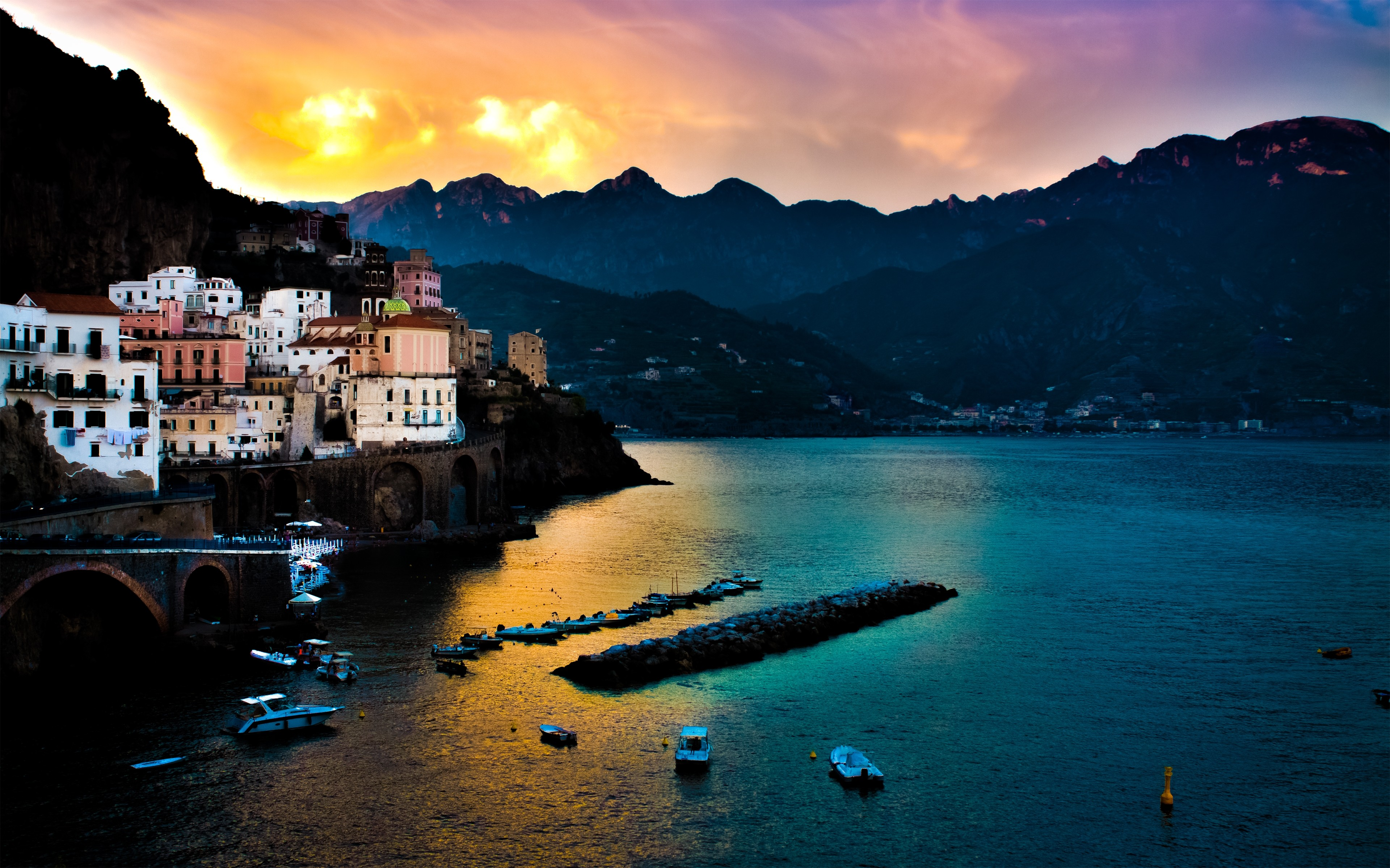 Amalfi 4k ultra hd wallpaper sfondi 3840x2400 id for Sfondi desktop 4k