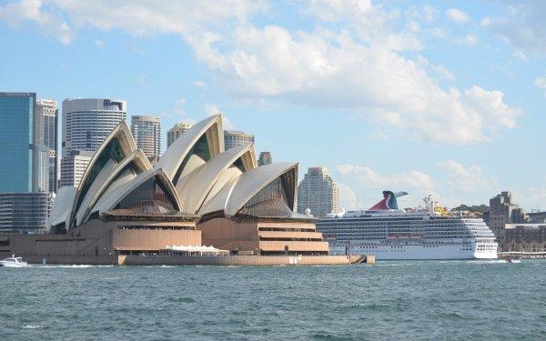 Hecho por el hombre Ópera de Sídney Sídney Australia Buque de cruceros Carnival Spirit Ciudad Fondo de pantalla HD | Fondo de Escritorio