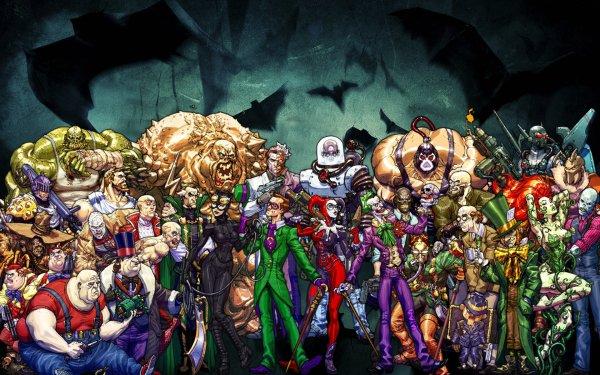 Comics Batman Clayface Two-Face Mr. Freeze Bane Catwoman Riddler Joker Harley Quinn Poison Ivy HD Wallpaper | Background Image