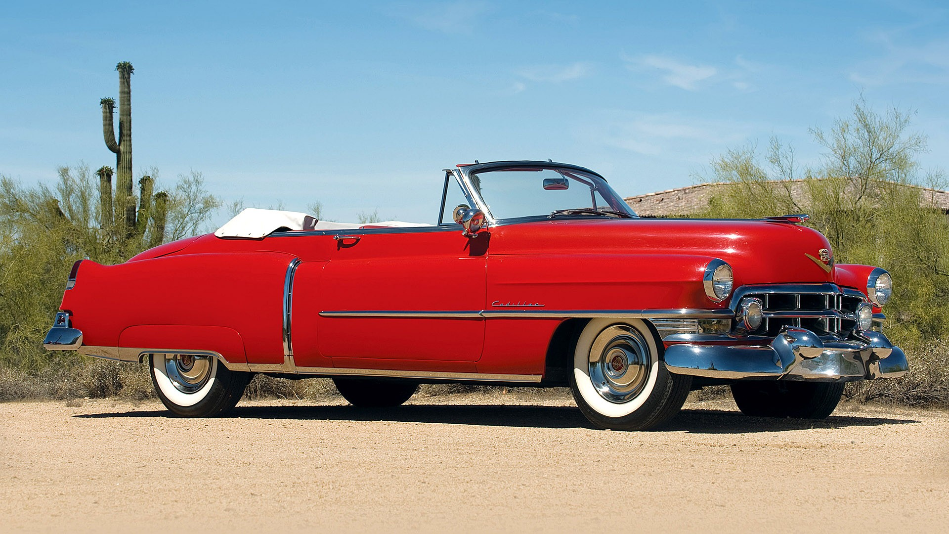 1950 Cadillac Sixty-two Convertible Full HD Wallpaper And