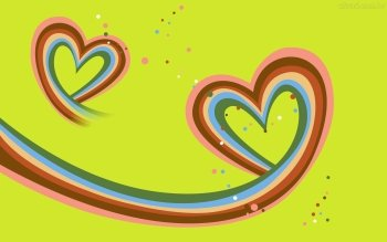 rainbow hearts Computer Wallpapers