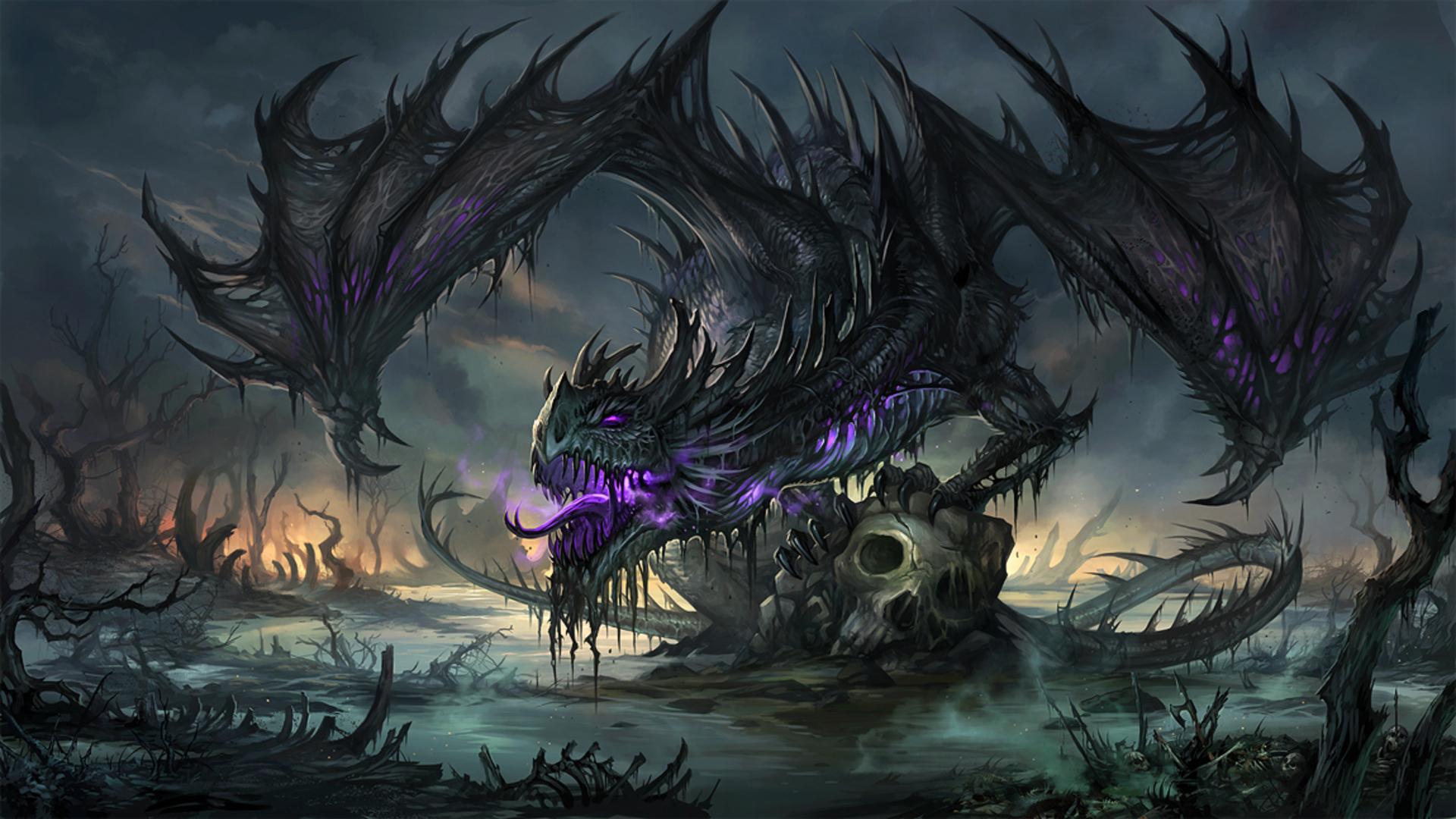Hd wallpaper dragon - Fantasy Dragon Fantasy Skull Wallpaper