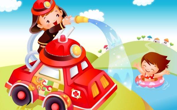 Video Game Cartoon Jigsaw 2 Firefighter HD Wallpaper   Background Image
