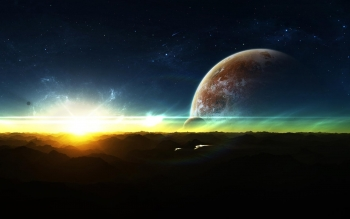 Science-Fiction - Planetenaufgang Wallpapers and Backgrounds ID : 455663