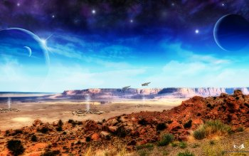 Sciencefiction - Landschap Wallpapers and Backgrounds ID : 459374
