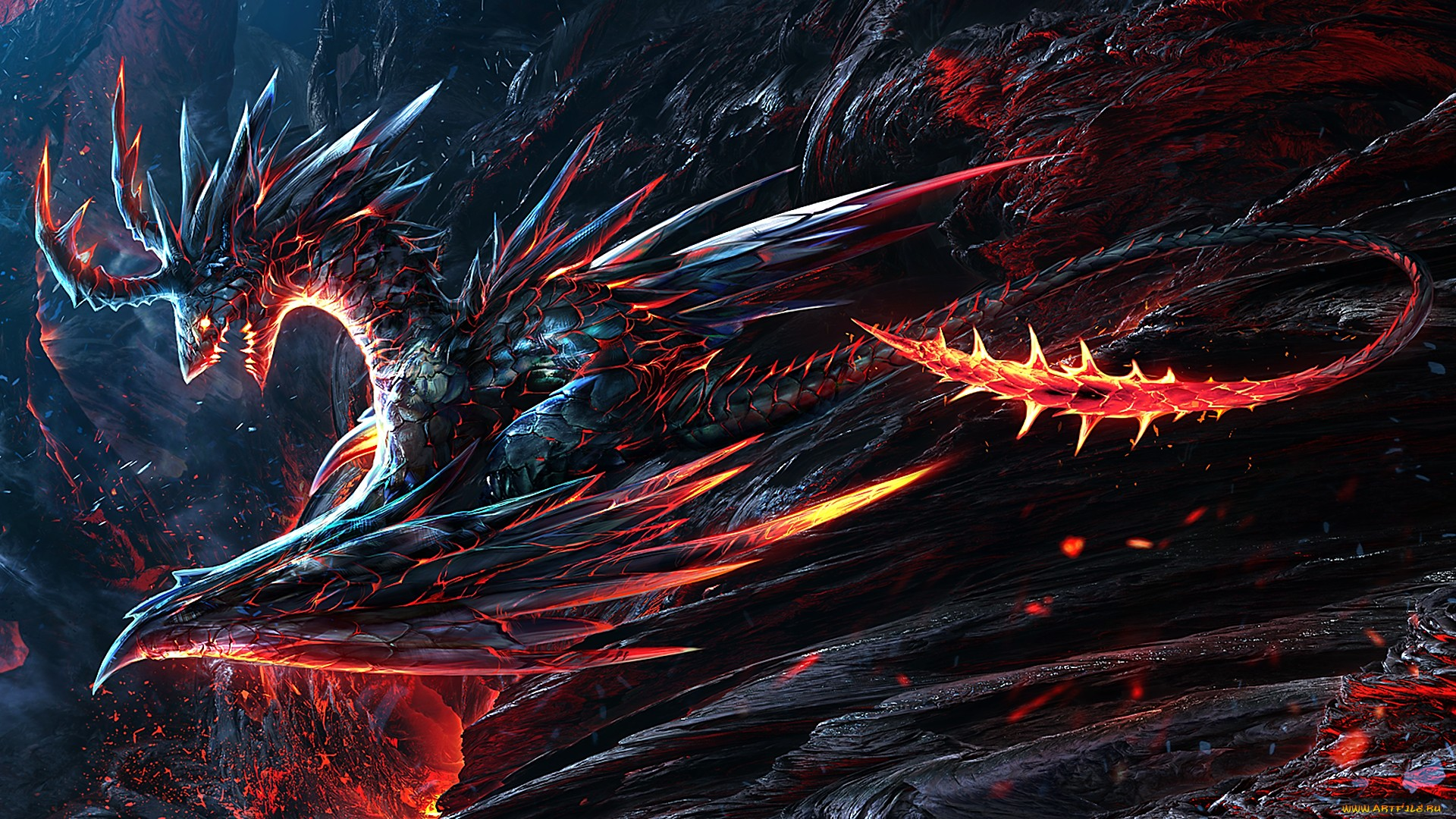 Molten scales hd wallpaper background image 1920x1080 - Dragon backgrounds 1920x1080 ...