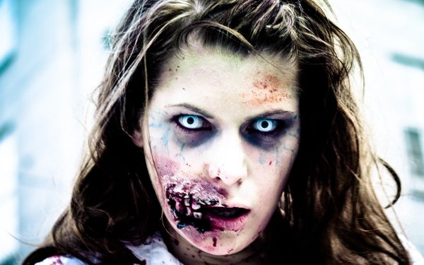 Dark Zombie Woman HD Wallpaper | Background Image
