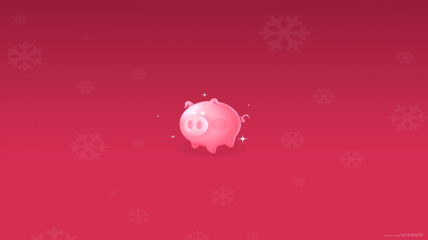 Pig wallpaper and background image 1366x768 id 466069 - Pig wallpaper cartoon pig ...