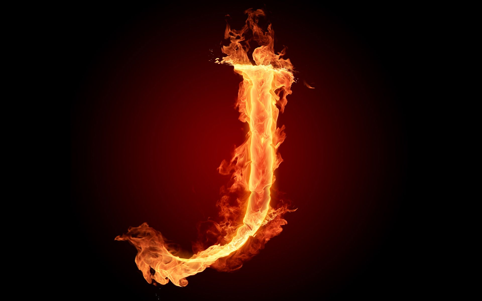 i letter in fire - photo #17