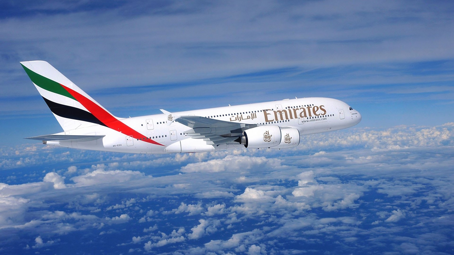 Vehicles - Airbus A380  Airplane Aircraft Emirates Cloud Wallpaper