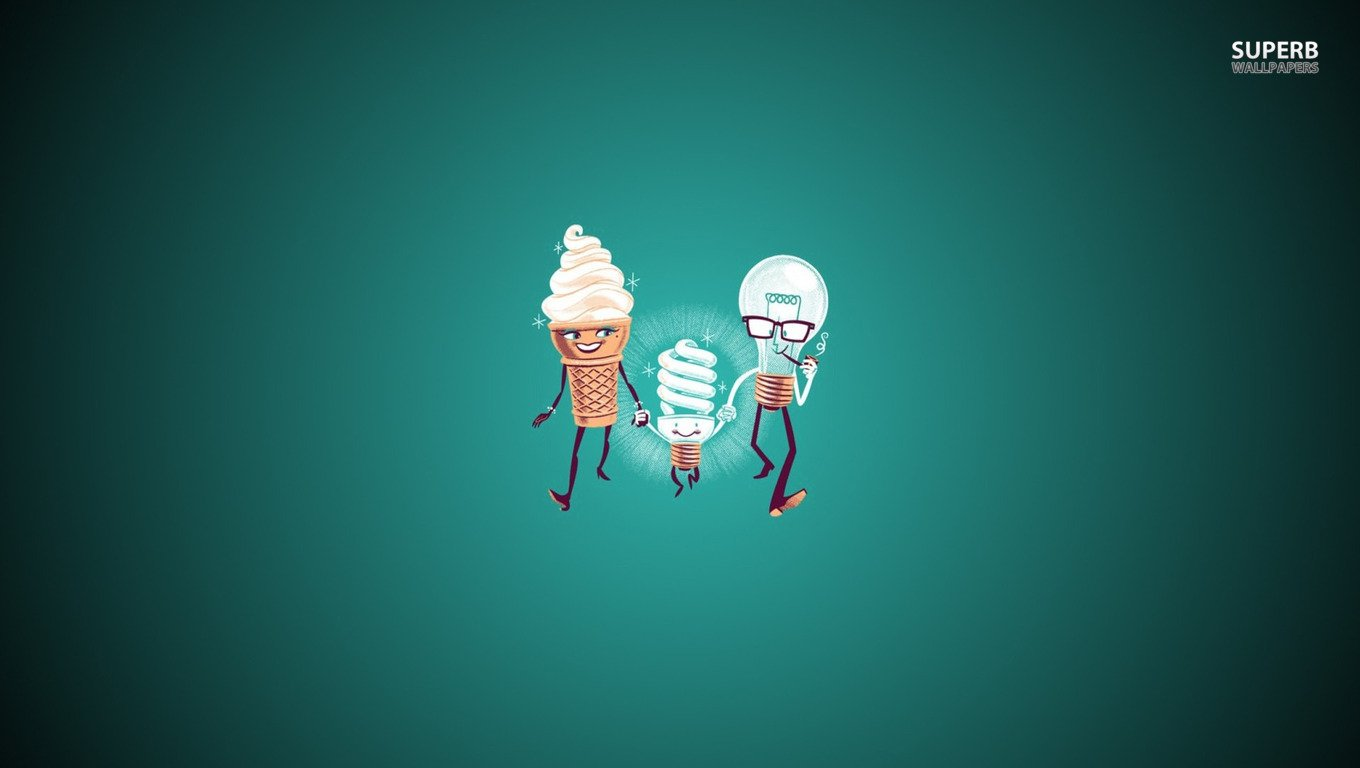 Ice cream bulbs wallpaper and background 1360x768 id for Fun wallpaper for home