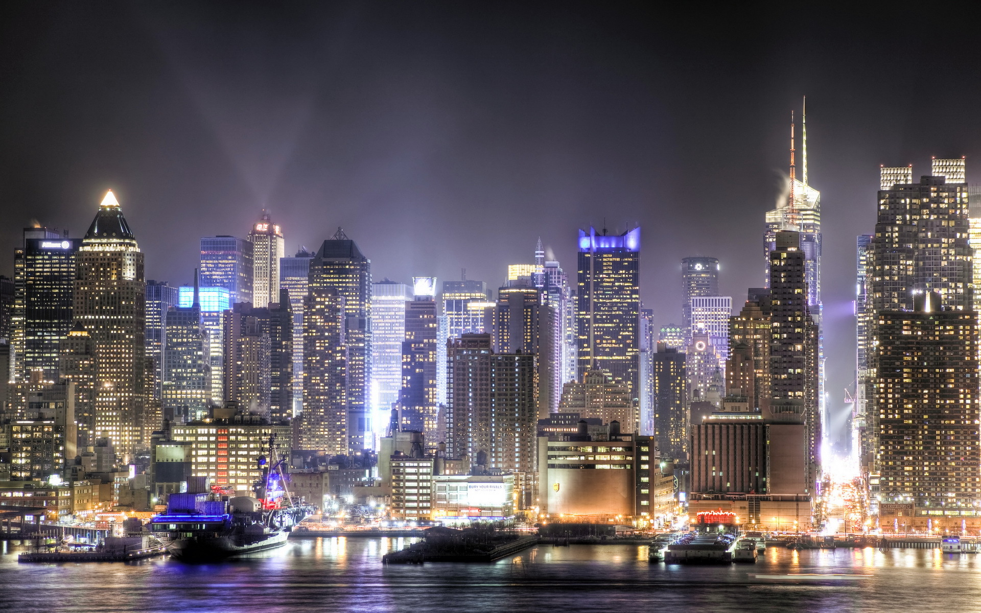 manhattan skyline viewed from new jersey full hd wallpaper and