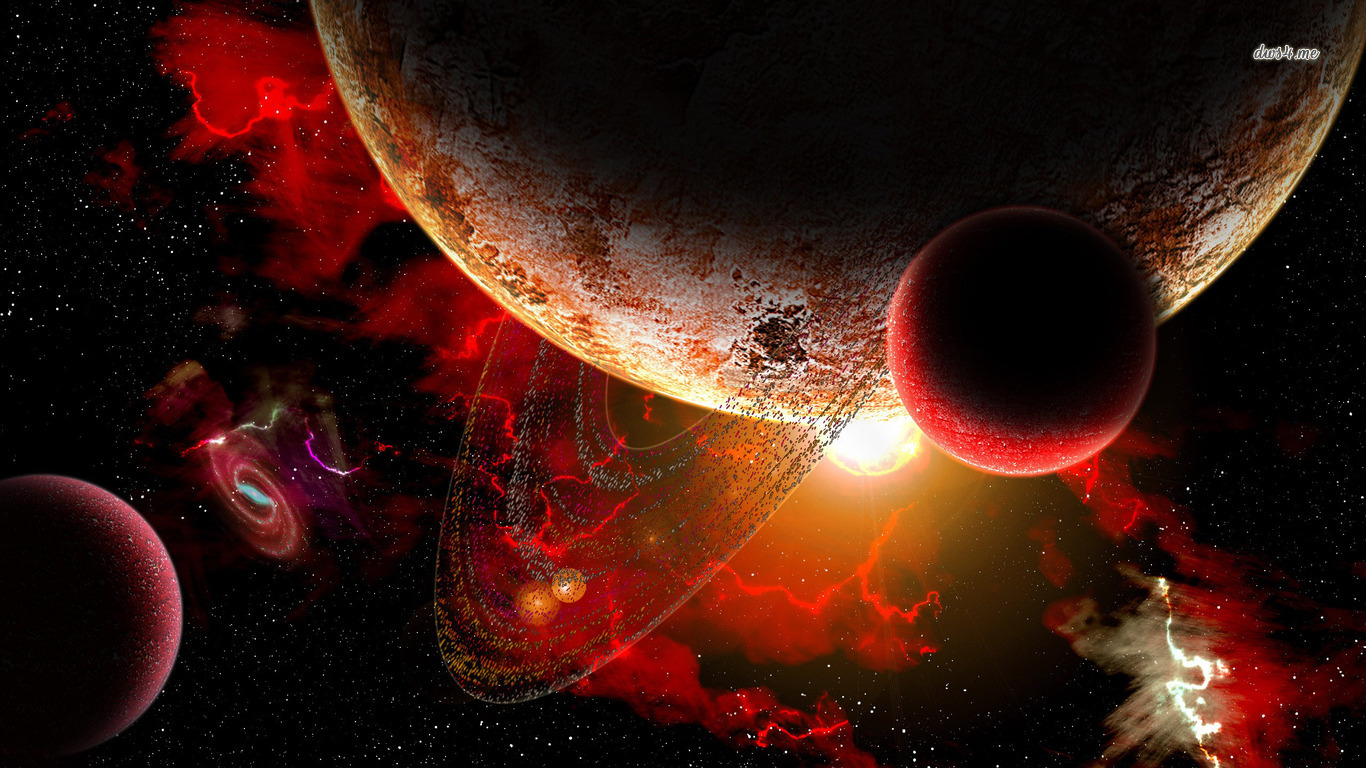 planetscapes backgrounds red - photo #1