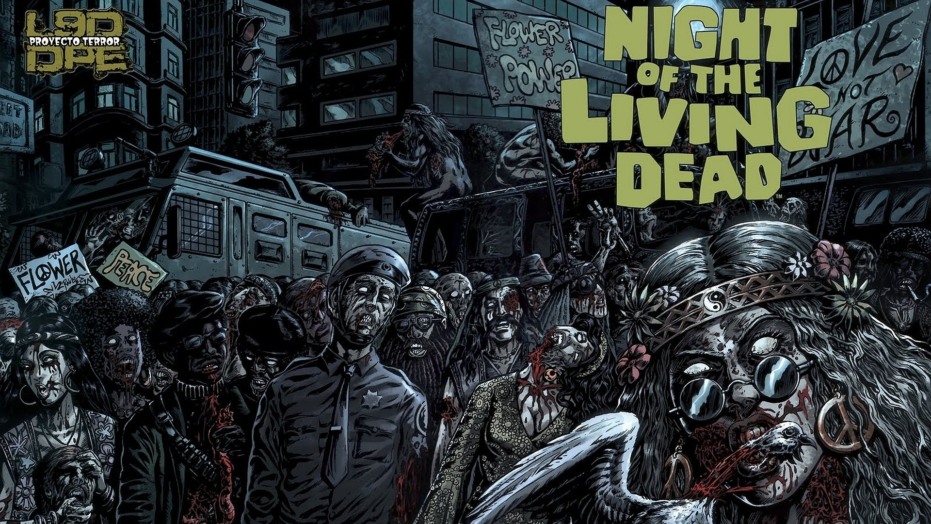 Night Of The Living Dead Hd Wallpaper Background Image