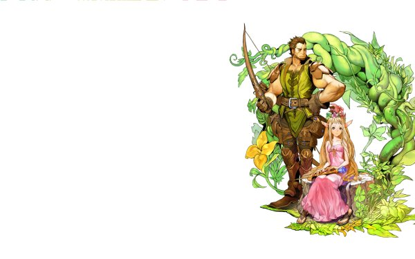 Video Game Fantasy Earth Zero Game Elf Cute Staff Tracker Weapon Bow Flower HD Wallpaper   Background Image