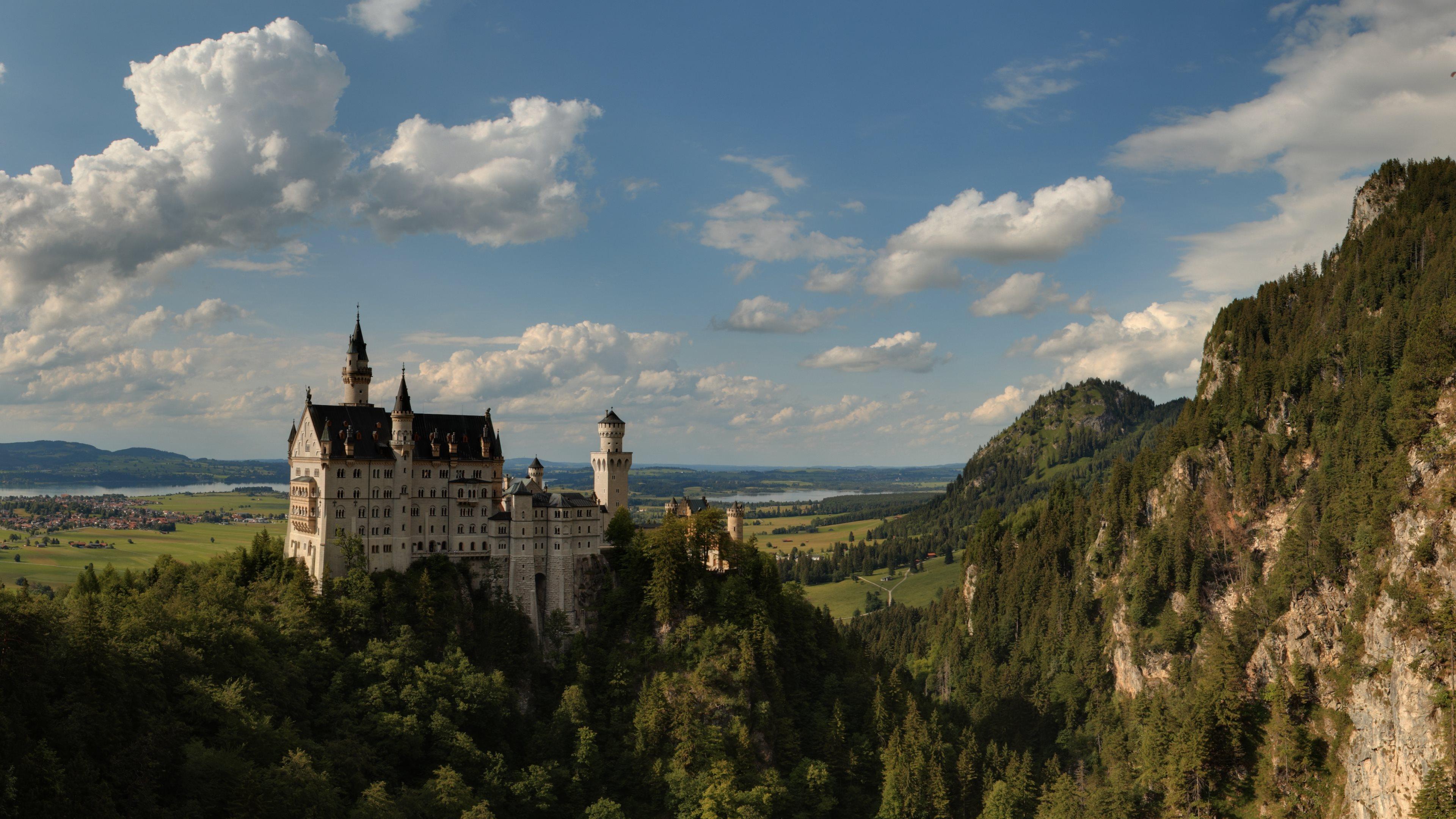 neuschwanstein castle 4k ultra hd wallpaper and background