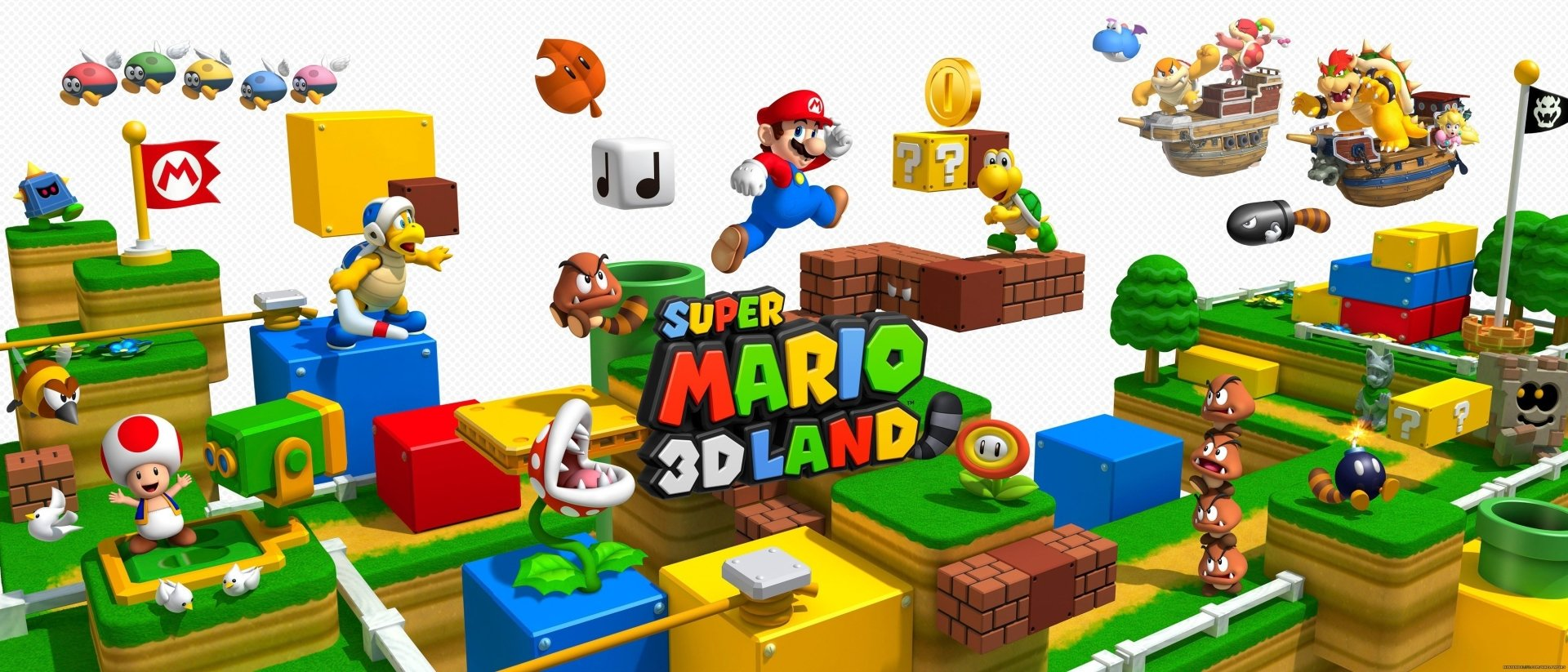 Video Game - Super Mario 3D Land  3D Nintendo Mario Bakgrund