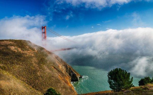 Man Made Golden Gate Bridges Bridge HD Wallpaper | Background Image
