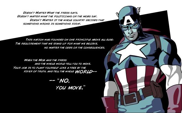 Bande-dessinées Civil War Citation Captain America Fond d'écran HD | Image