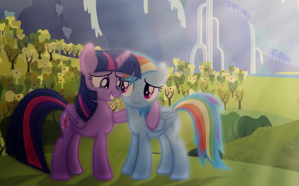 Series de Televisión My Little Pony: La magia de la amistad My Little Pony Twilight Sparkle Rainbow Dash Vector Fondo de pantalla HD | Fondo de Escritorio