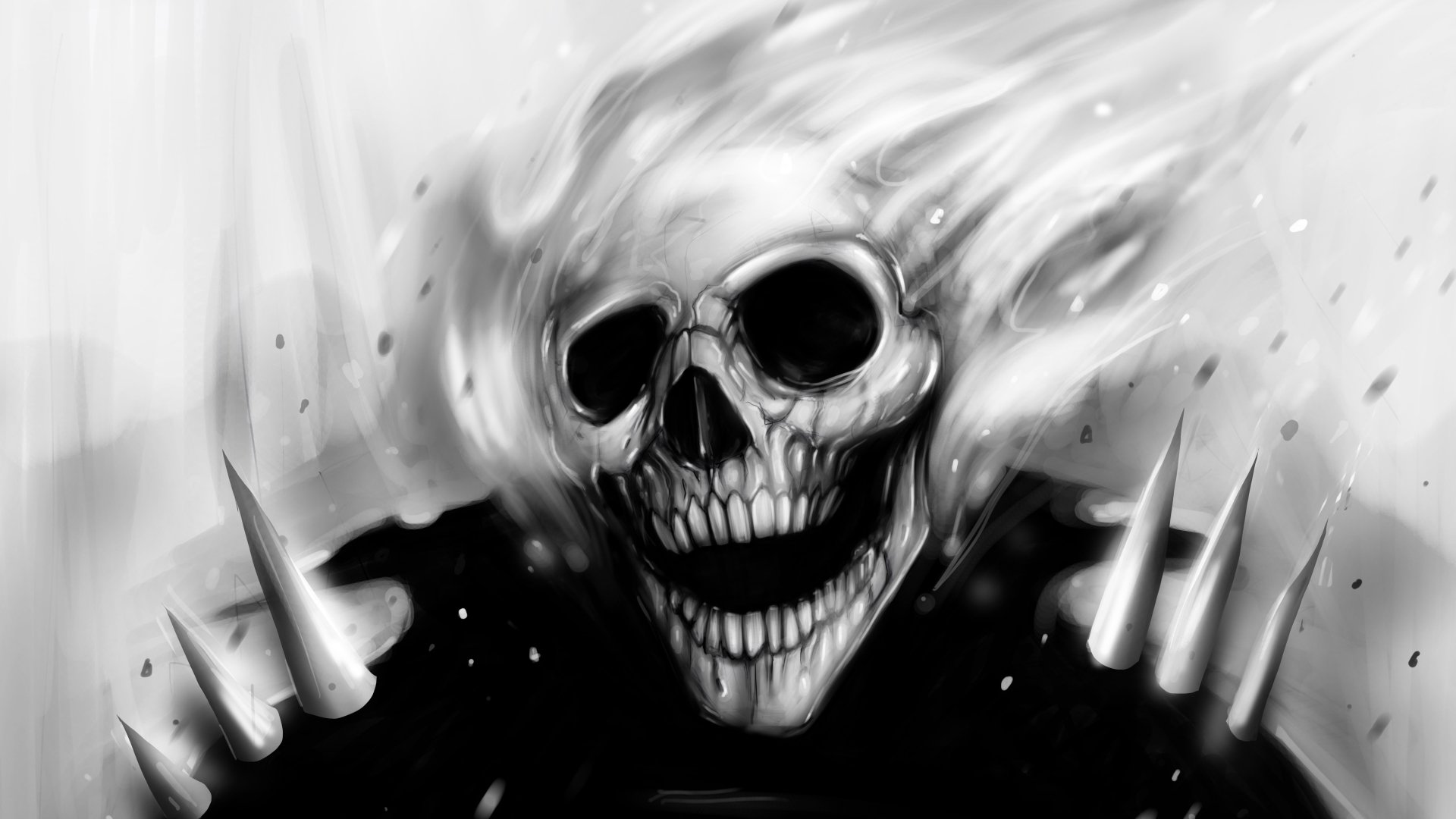 Comics - Ghost Rider  Creepy Skull Wallpaper