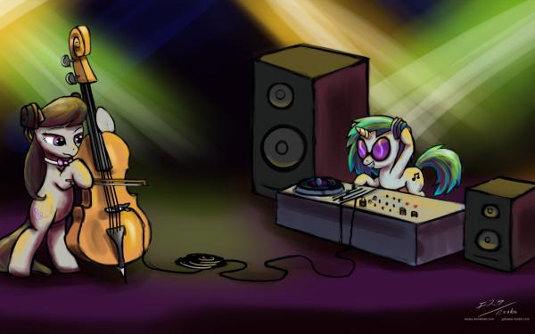 TV Show My Little Pony: Friendship is Magic My Little Pony Octavia Melody DJ Pon-3 Vinyl Scratch HD Wallpaper | Background Image