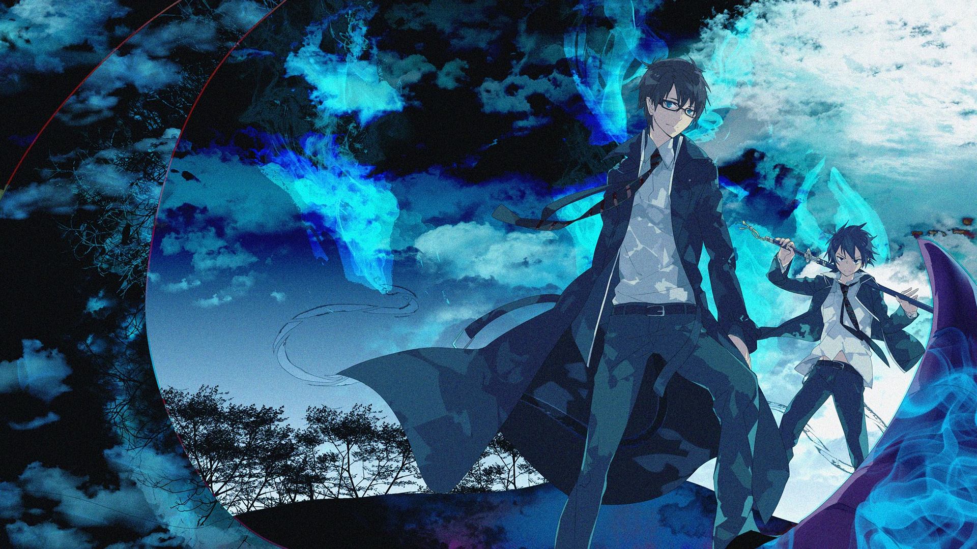 Blue exorcist hd wallpaper background image 1920x1080 - Blue exorcist wallpaper ...