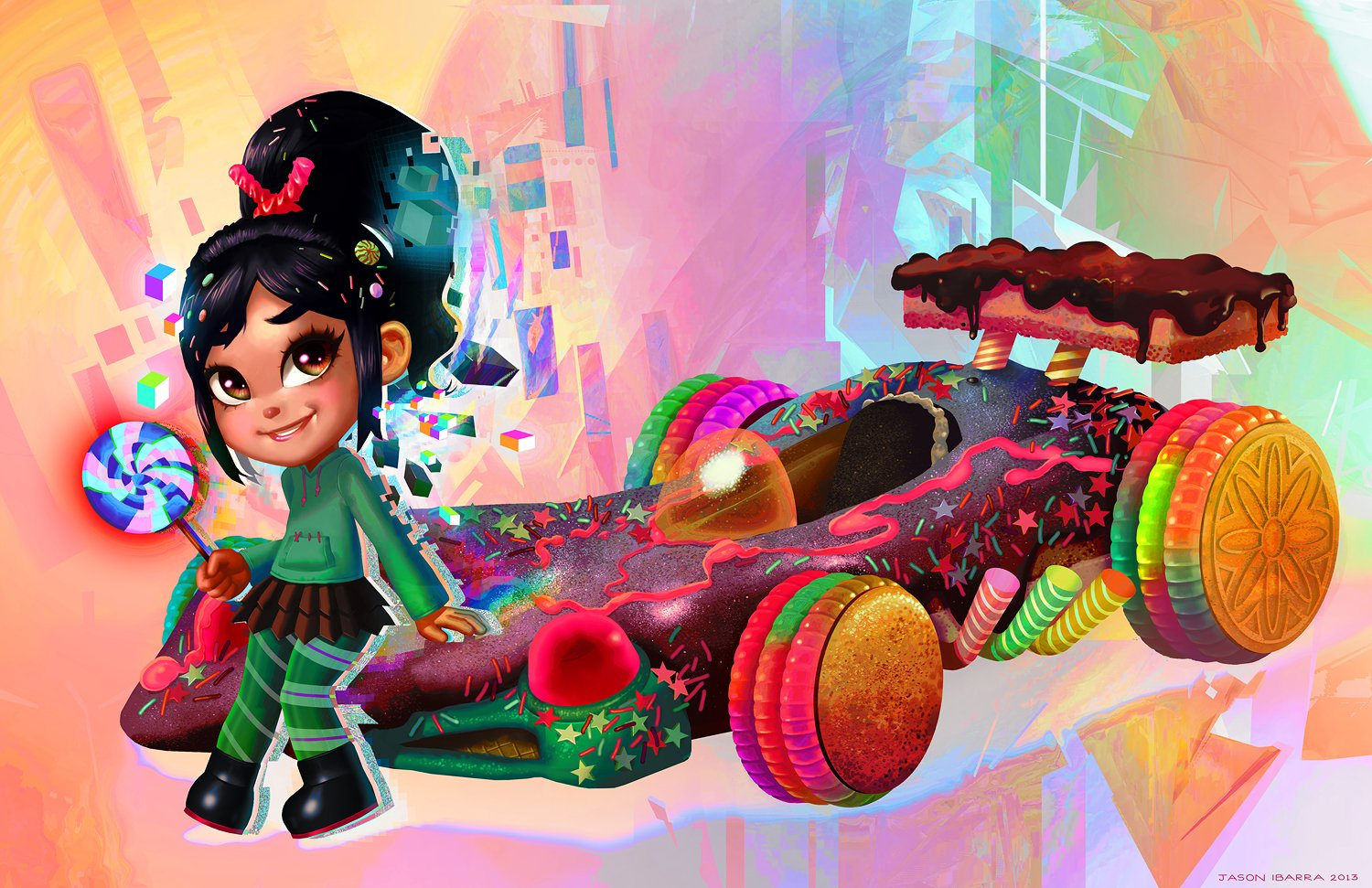 Movie - Wreck-It Ralph  Vanellope von Schweetz Candy Car Kart Lollipop Wallpaper
