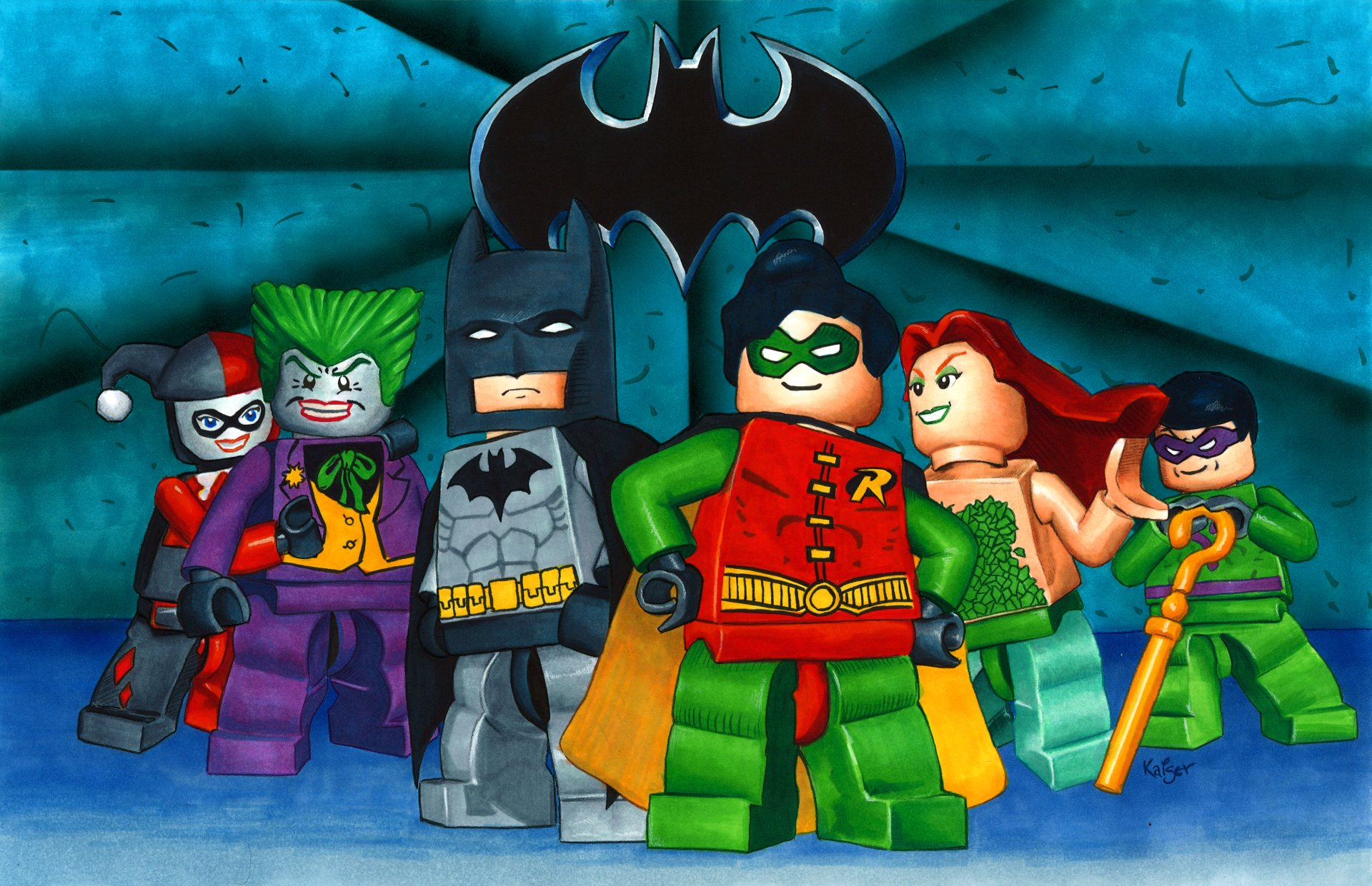Video Game - LEGO Batman: The Videogame  Harley Quinn Joker Batman Robin (Batman) Poison Ivy Riddler Wallpaper