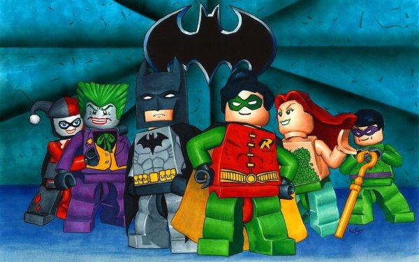 Video Game LEGO Batman: The Videogame Lego Joker Batman Robin Poison Ivy Riddler Harley Quinn Dick Grayson HD Wallpaper | Background Image