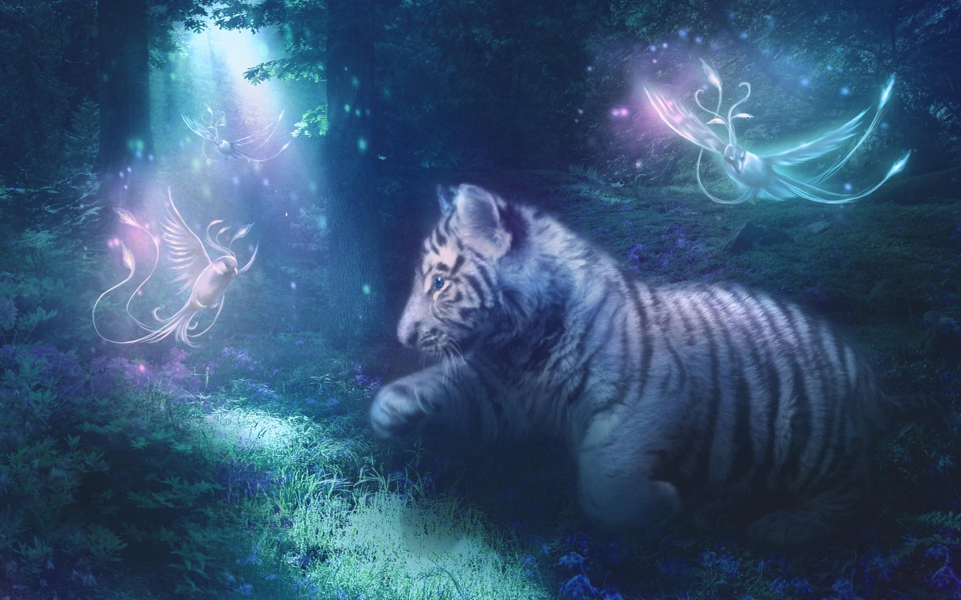 Citaten Uit Engels : Fantasie tiger wallpaper